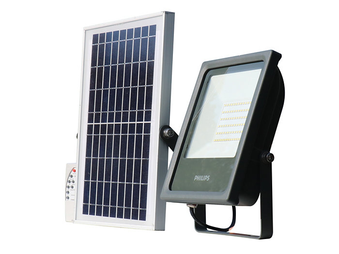 Smart Bright Solar Flood light 1000 lm side view