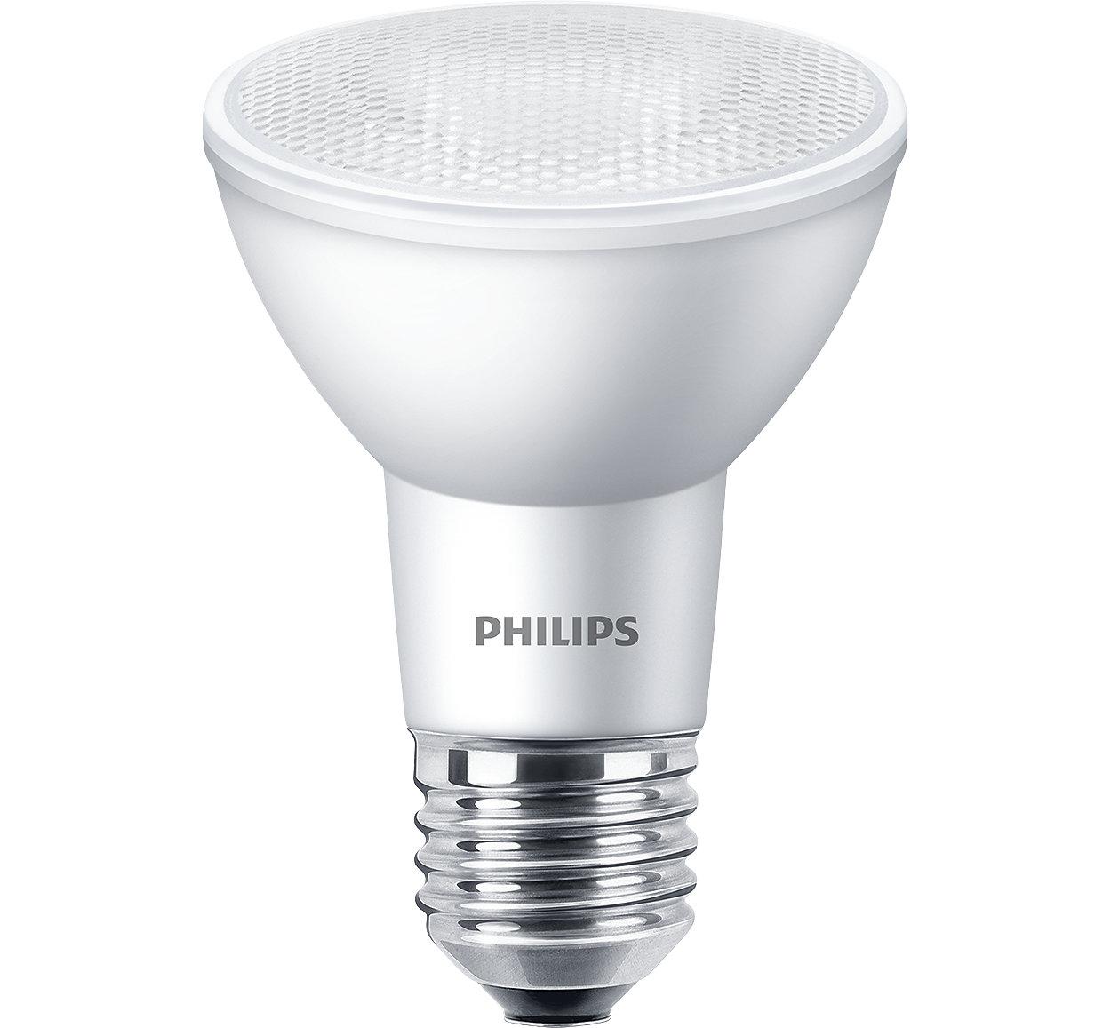 Tudo o que você valoriza em um Halogênio PAR38 com os benefícios do LED. Destaque a sua mercadoria ou espaço sem distração.