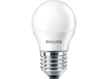 LED candle/luster EcoHome LEDBulb 4W E27 6500K G45 3PF AR