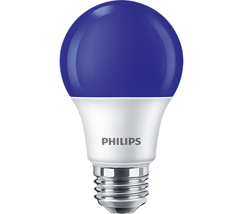 8A19/LED/BLUE/P/ND 120V 4/1FB