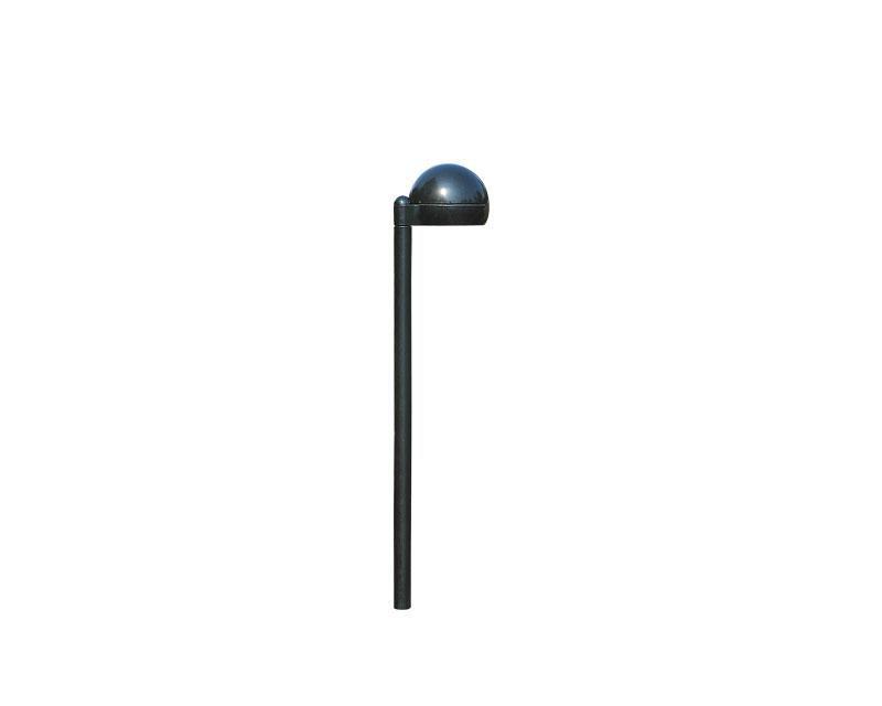 Path Light, Aluminum w/Stake, Black, 2W LED, 12V