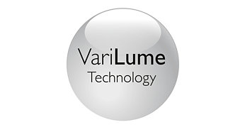 Built-in VariLume technology for easy brightness control