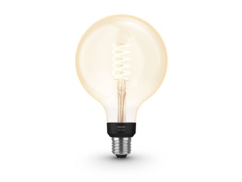 Hue White filament 1-pack G125 E27 Globe met zichtbare gloeidraad