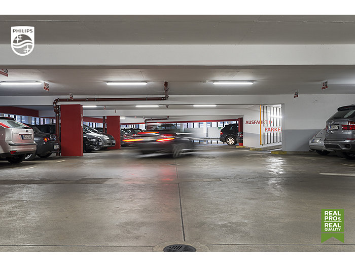 Cars in a parking garage