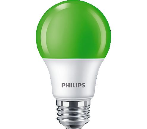 8A19/LED/GREEN/P/ND 120V 4/1FB