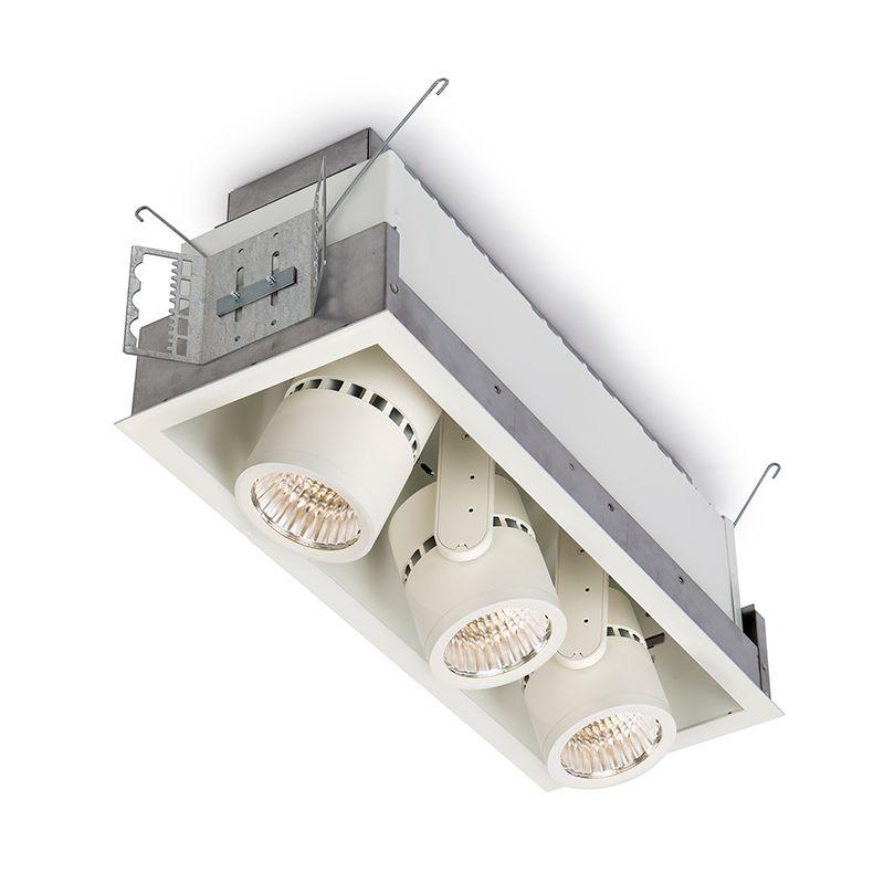 Alcyon LED Vertical 2000lm Cylinder (LLAVRM), Recessed Lighting, Fixture, 3000K, Matte Black, 3 head