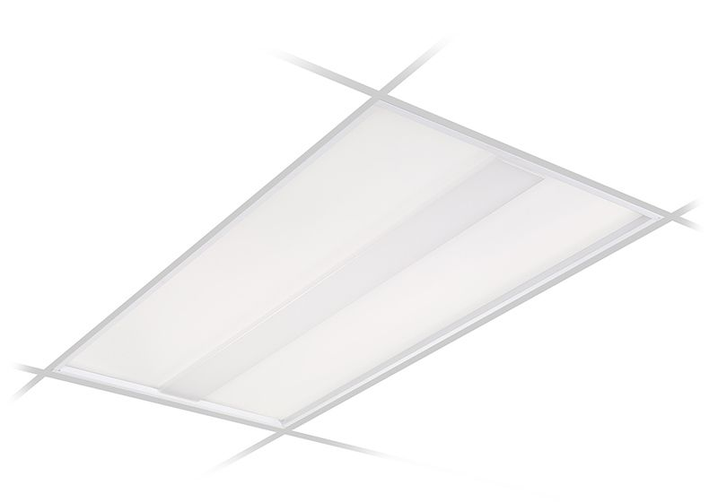 VersaForm Recessed 2'x4' LED, 6800 lm, CRI 90 3500K Direct, Beam Shaping Light Guide with Stepped Diffuser