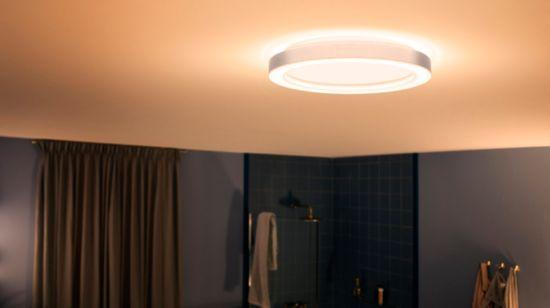Vattentät smart belysning för badrum