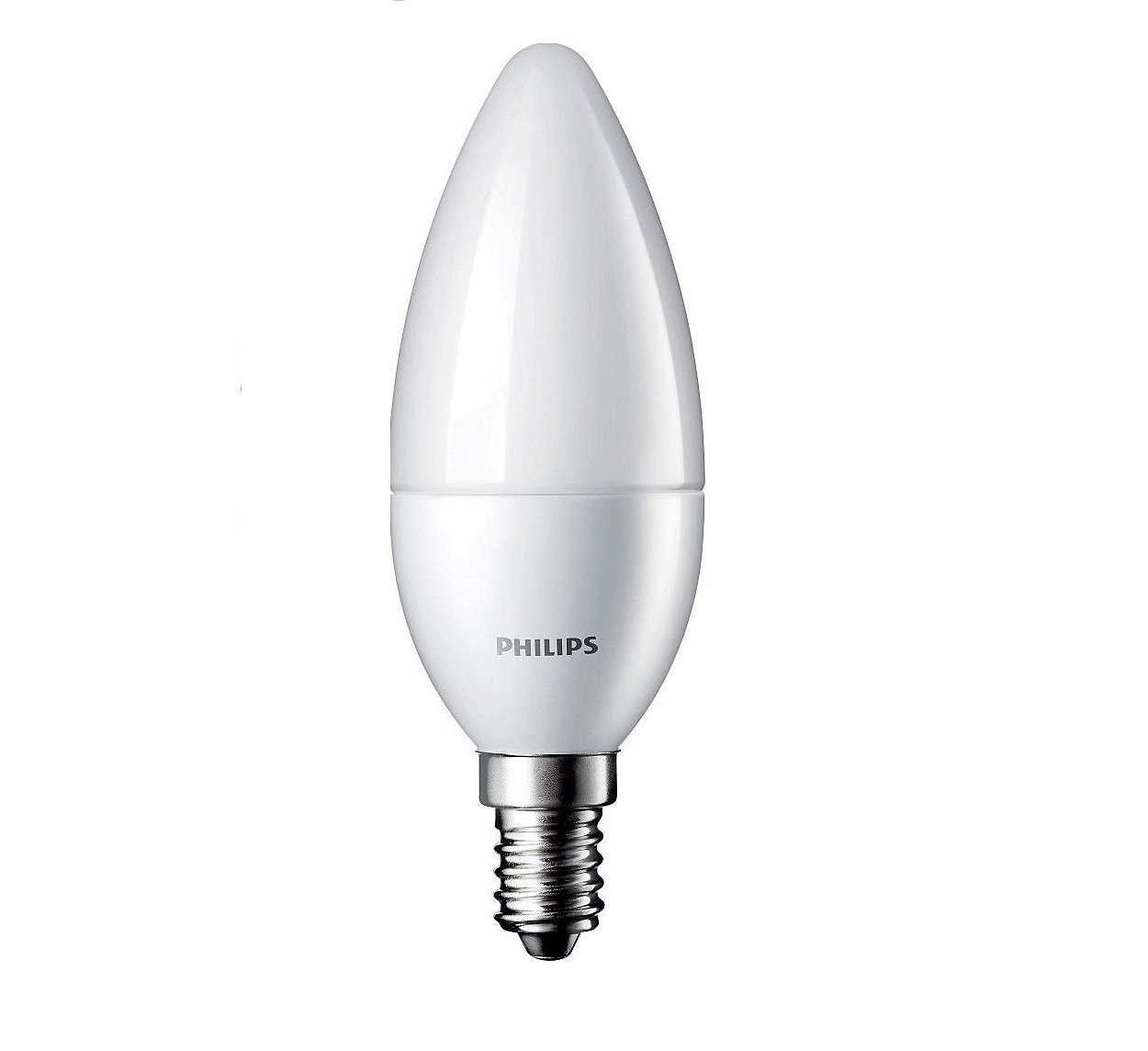 Frosted LED candle bulbs for decorative fixtures