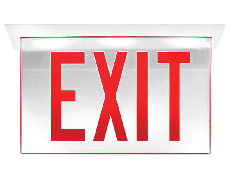 Edge-Glo Edge-Lit LED Exit Sign