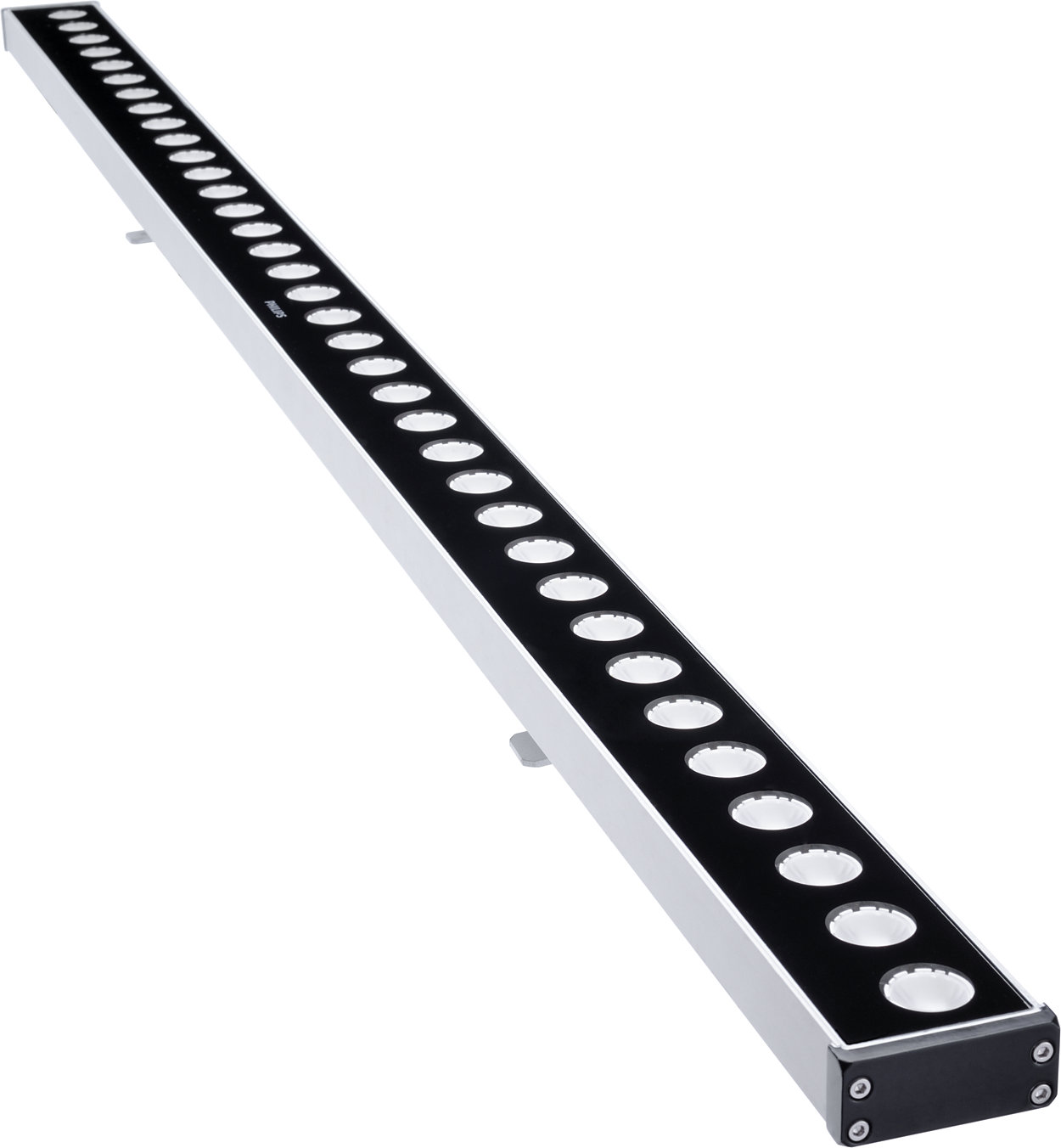 Dynamic RGB wall washer LED linear luminaire