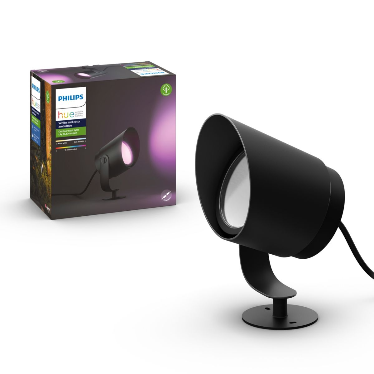 Hue White And Colour Ambience Lily Xl Outdoor Spot Light