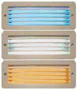 Die Cast Aluminum LED Indoor Step Light, Horizontal/vertical Open Louver Face, Opal Polycarbonate, Bronze Face Plate, White LEDs