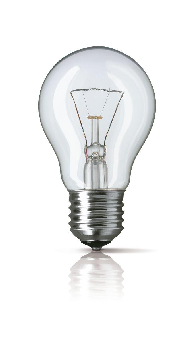 3 x Philips GLS Classic A55 100W ES E27 Clear Light Bulbs Screw Cap 230V Incandescent Lamps