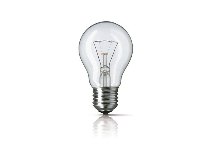 Štandardné žiarovky číre (tvar A)