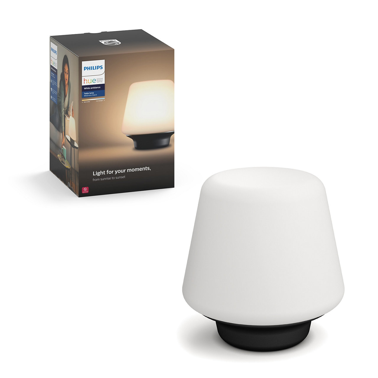 Hue White Ambiance Wellness Dimmable LED Smart Table Lamp