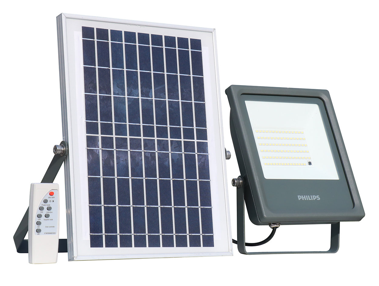 Solar flood lighting kit.