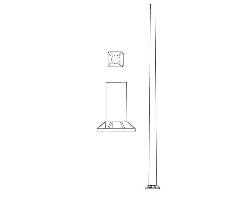 Pole (P9400), Round Tapered Pole