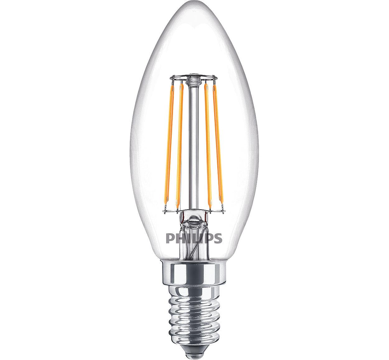 Klassisk LED-lampa med glödtråd för dekorativ belysning