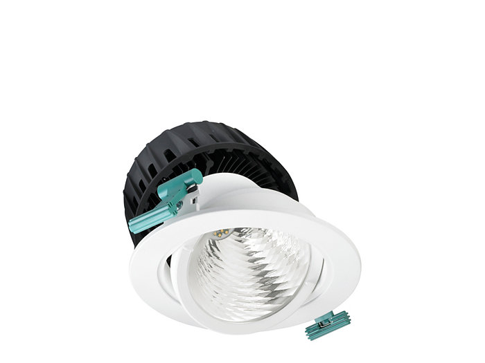 LuxSpace Accent suunnattava downlight, performance -versio