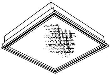 2x2, 2 Lamp 31U1T8, Clean Room, Pattern 12 .125
