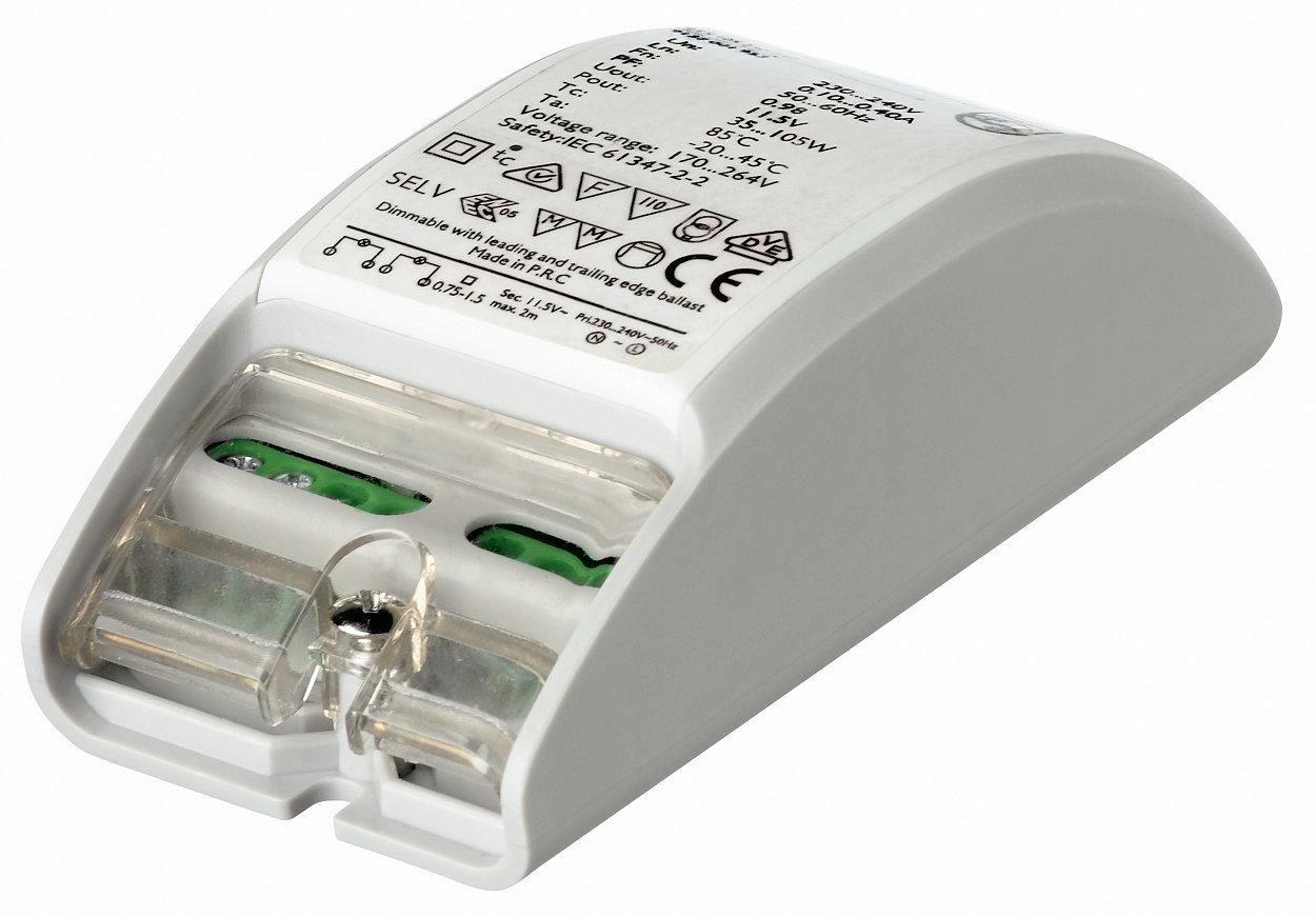 Primaline: transformador electrónico muy compacto para lámparas halógenas de 12 V