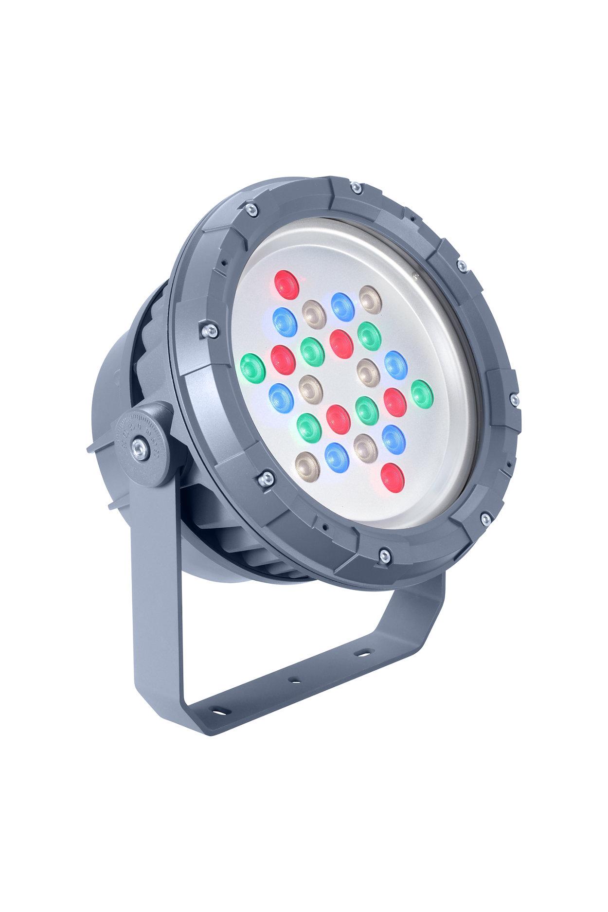 Proyector de LED arquitectónico para iluminación fija o dinámica.