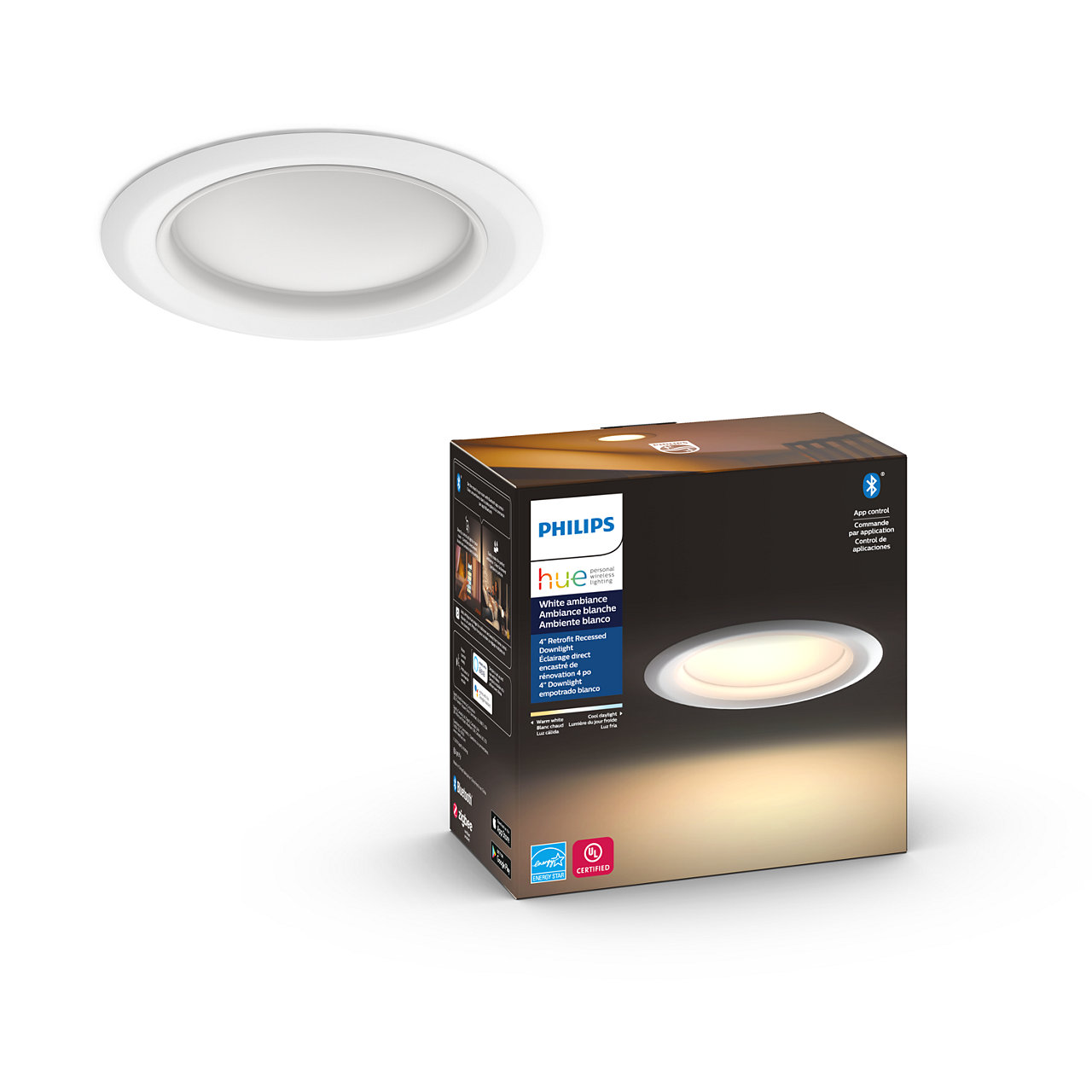 Hue White Ambiance Retrofit LED Downlight - 4 Inch