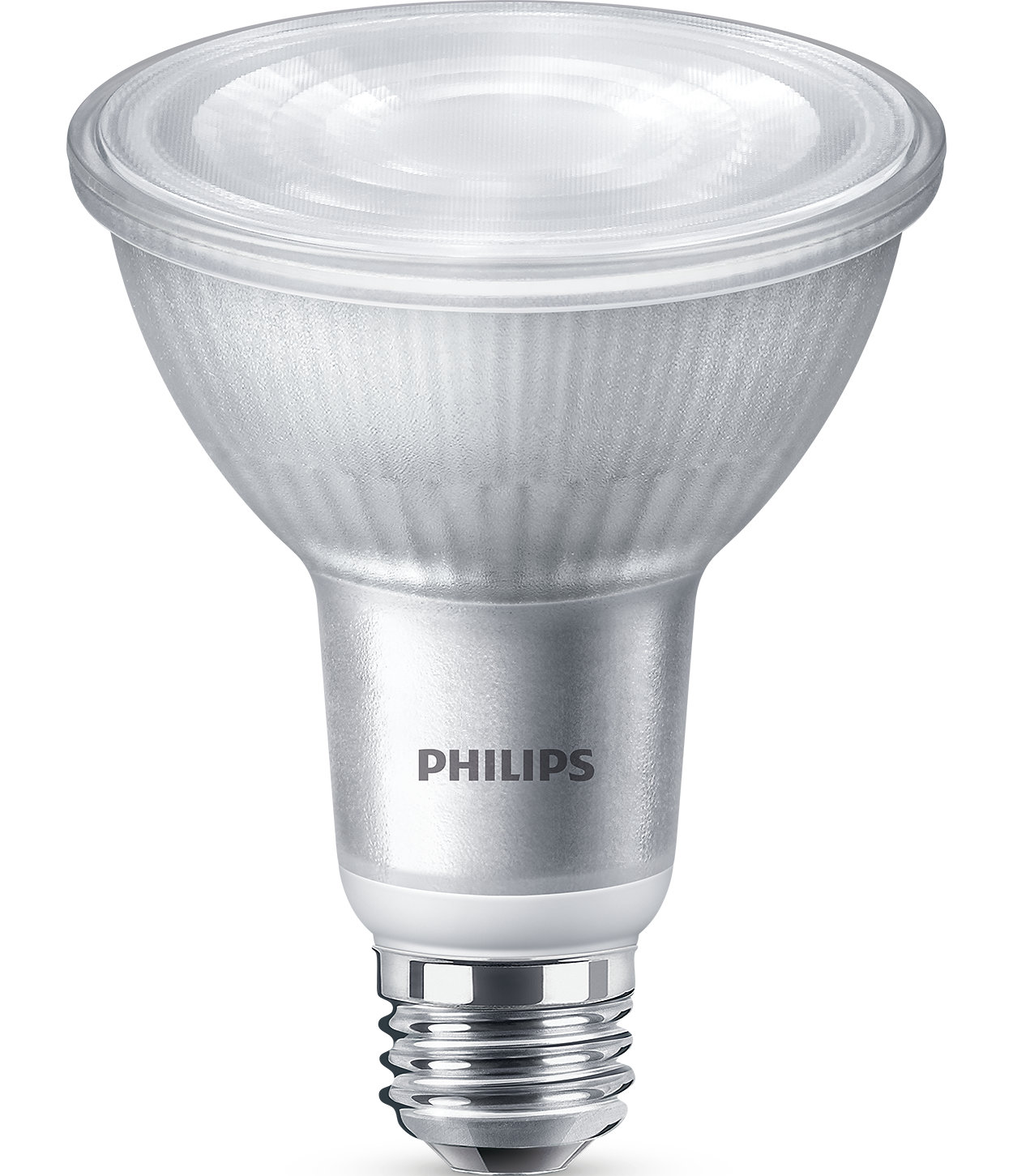 Extra bright, dimmable glass spot