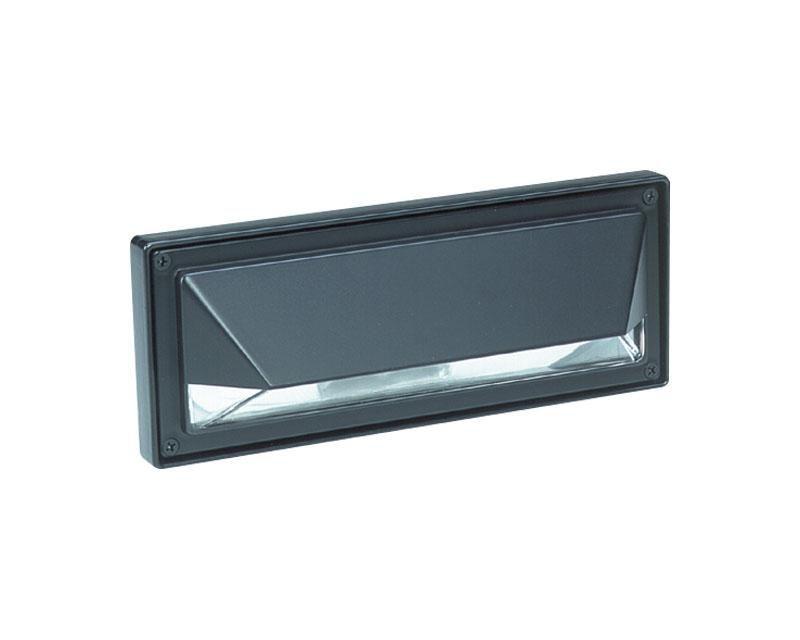 Step Light, Polycarbonate, Black, 13W PLC13, 120V