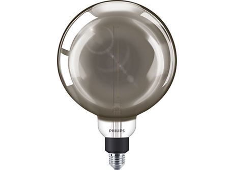 LED giant E27 G200 modern D + black CORD