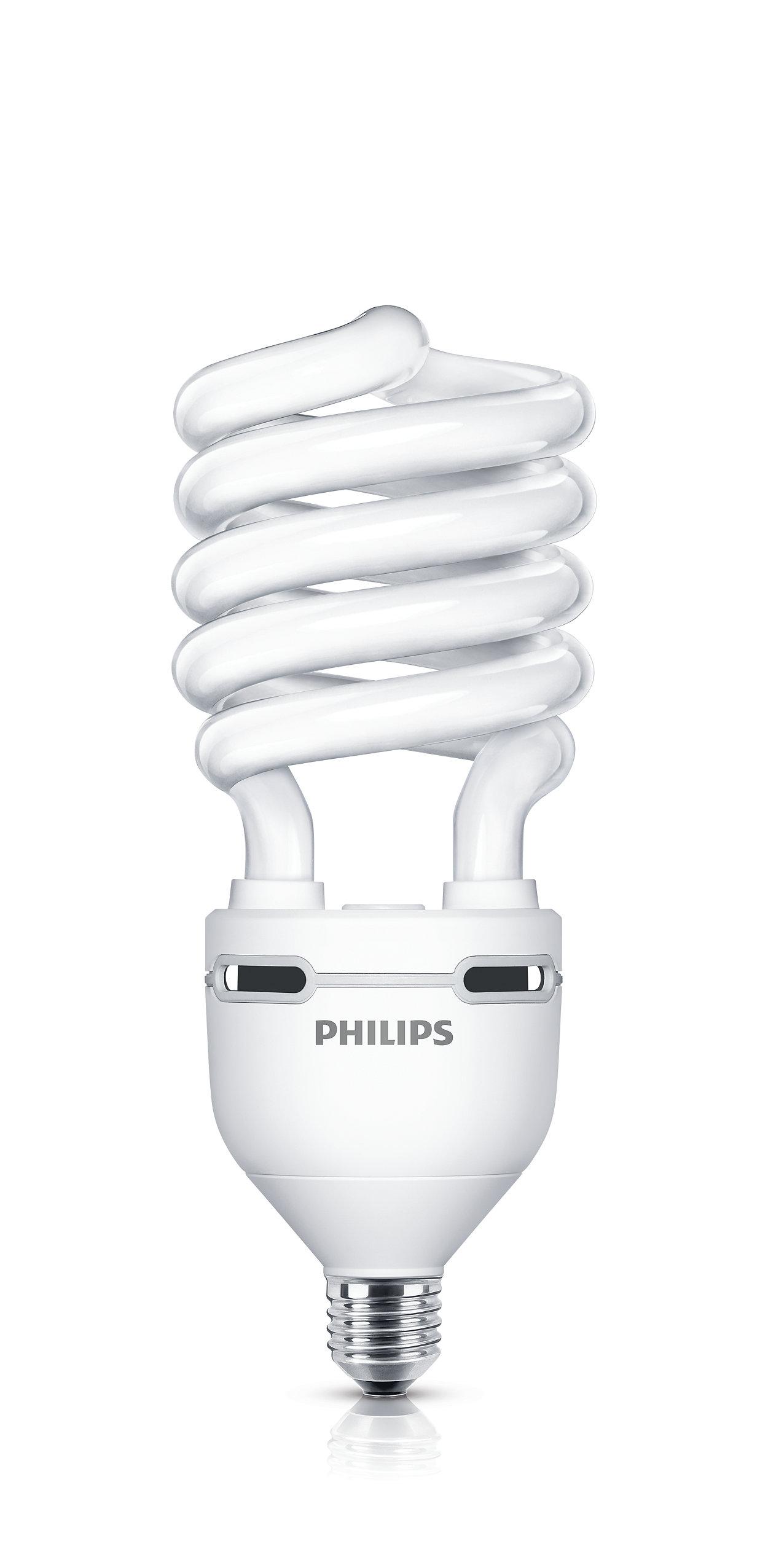 Yüksek lümen değerine sahip, sarmal/ spiral şekilli, enerji tasarruflu lamba.
