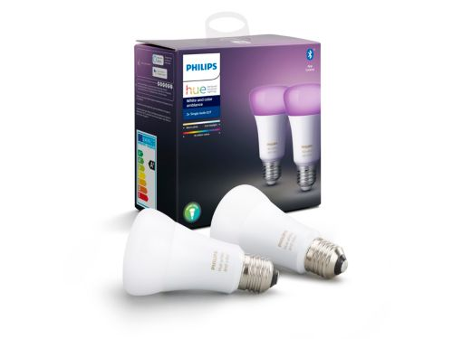 Hue White and Colour Ambiance 2-pack E27