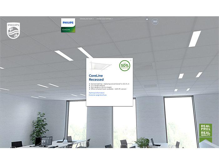 Office windows and desks