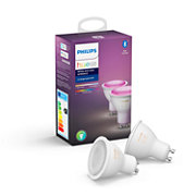 Hue White and Color Ambiance Pack de 2 GU10