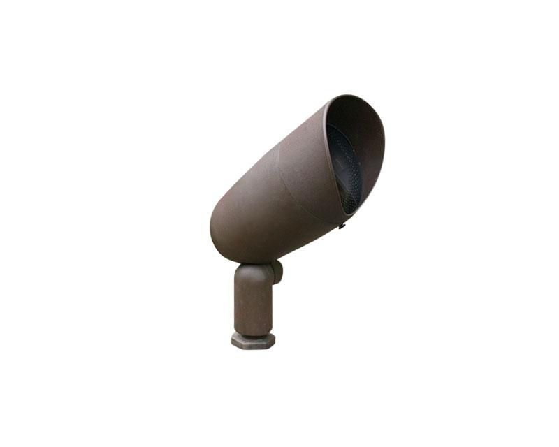 Accent, Ultem Composite Bullyte w/ Stake & Lamp, Bronze, 7W LED, Narrow Flood