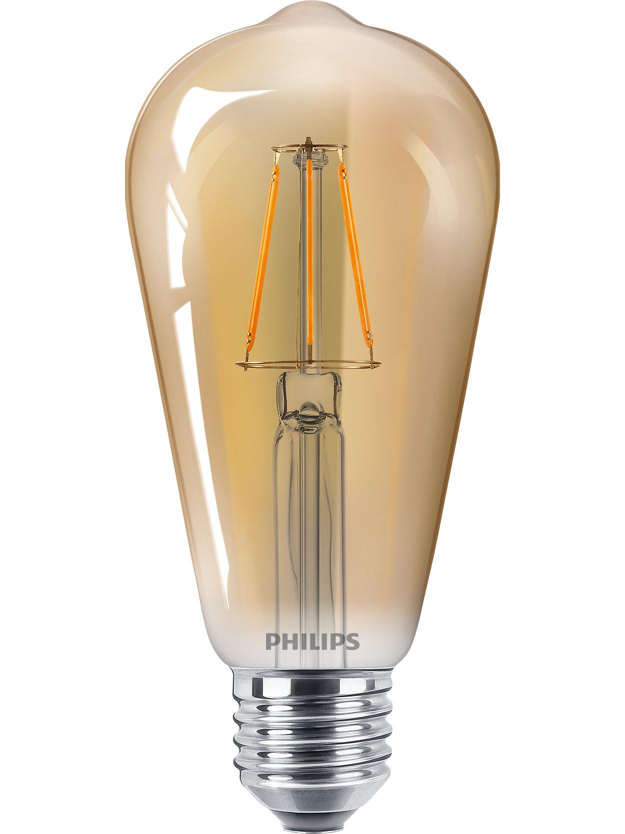 Lâmpadas de LED clássicas para iluminação decorativa