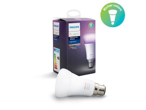 Hue White and Colour Ambiance Single bulb B22
