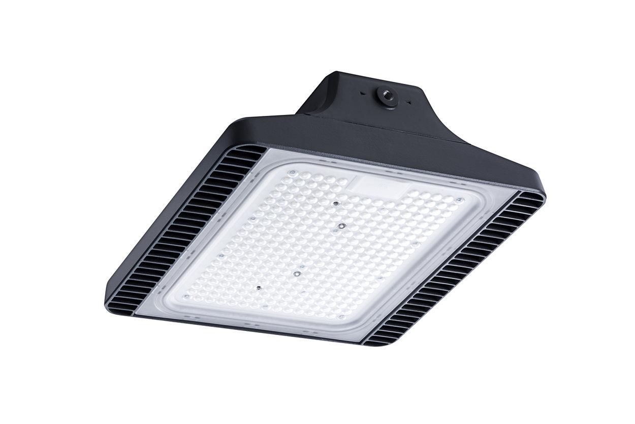 矩形 LED 高棚灯采用优雅的工业设计,具有经过优化的光学性能和长期可靠性。