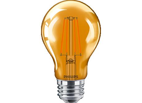 4A19/LED/ORANGE/G/E26/ND 6/1BC