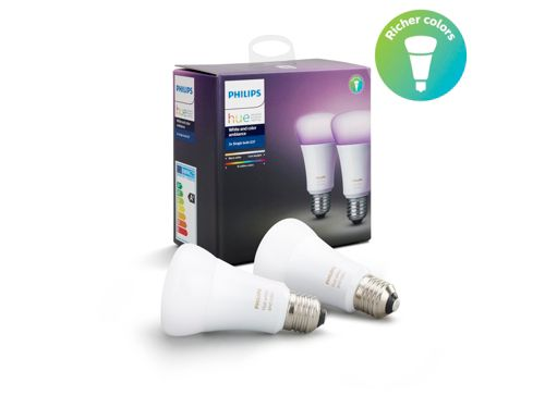 Hue White and Colour Ambiance Dual Pack E27