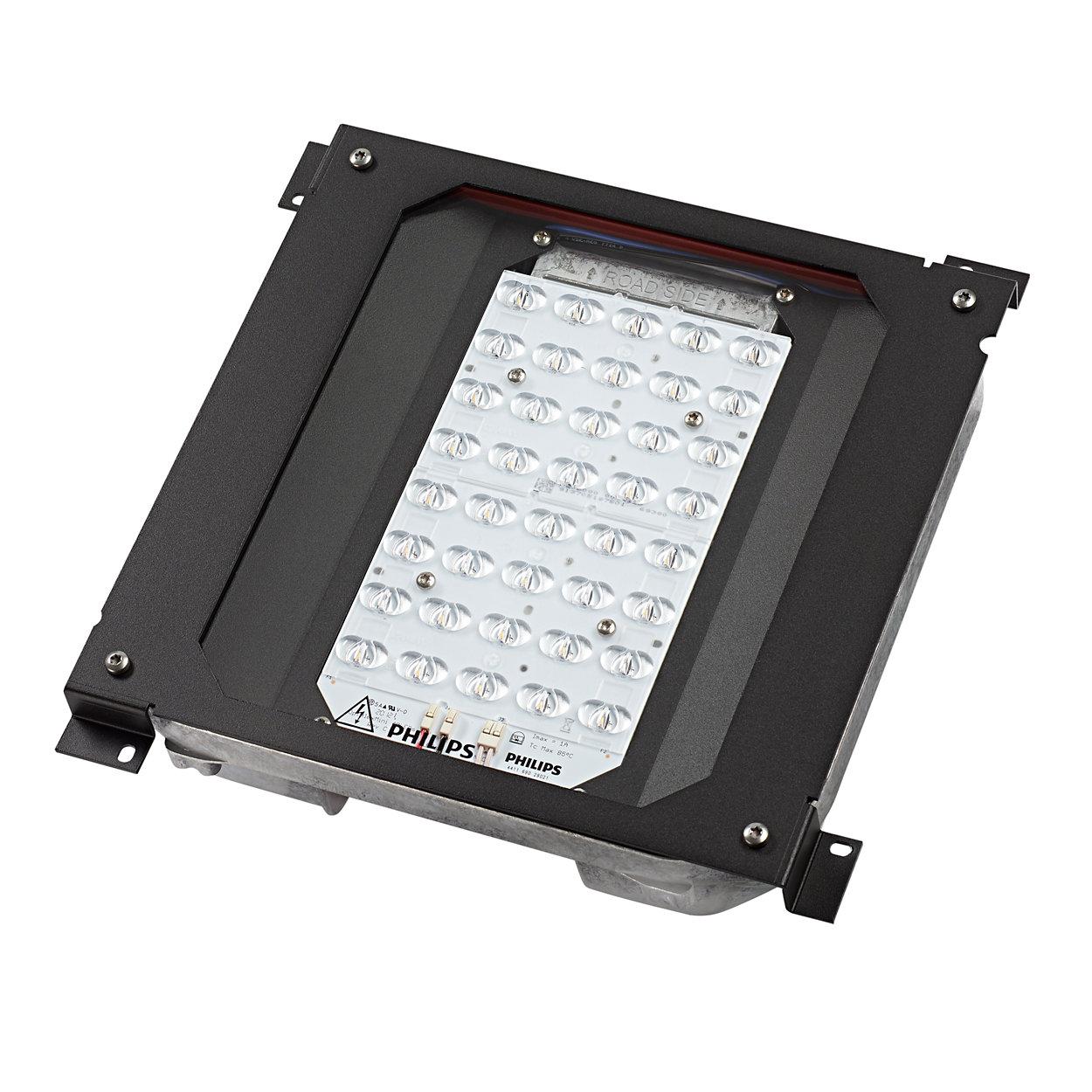 Atualize a sua base de instalação de luminária tradicional para uma alternativa LED mais energeticamente eficiente e preparada para o futuro.