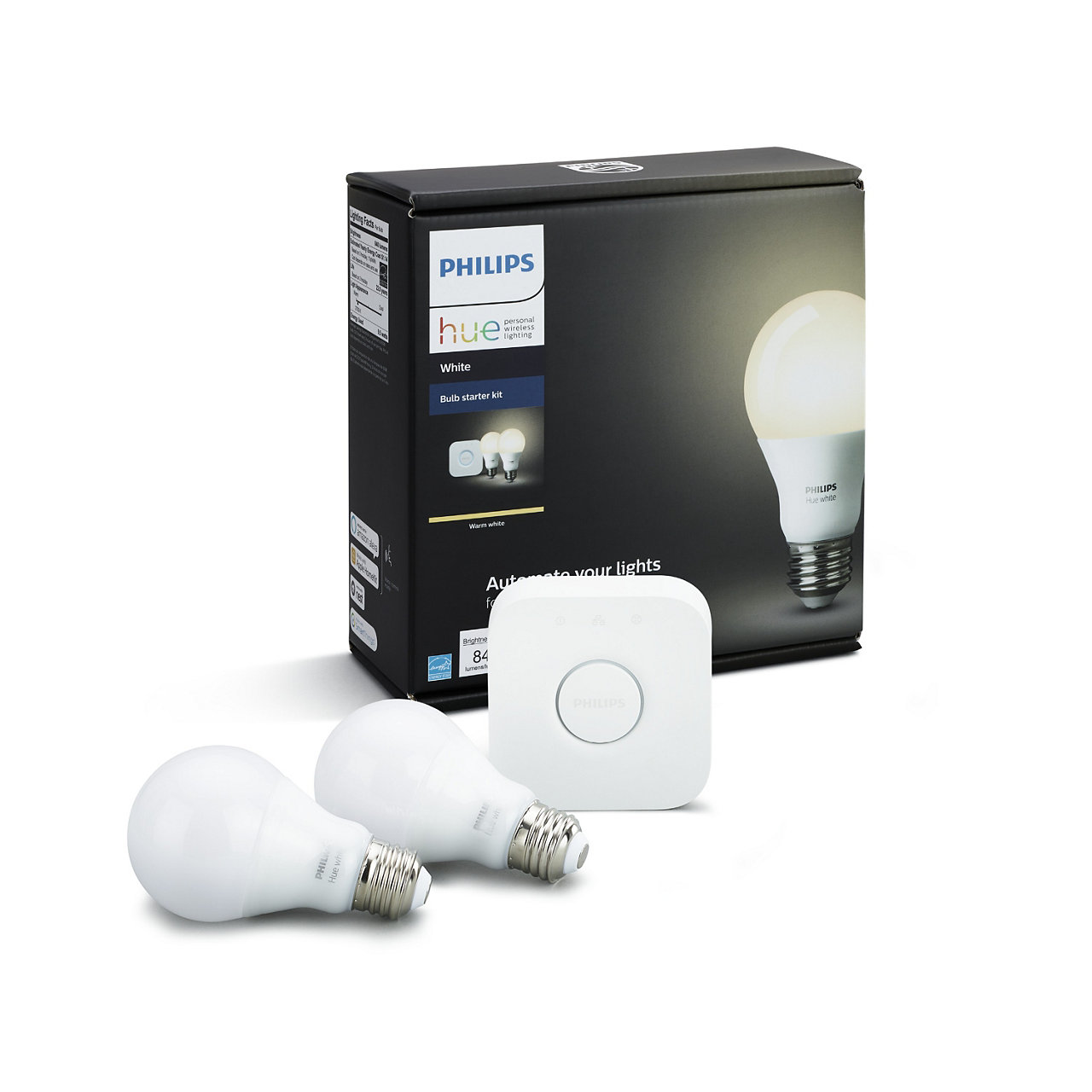 Hue A19 60W Equivalent Wireless Starter Kit
