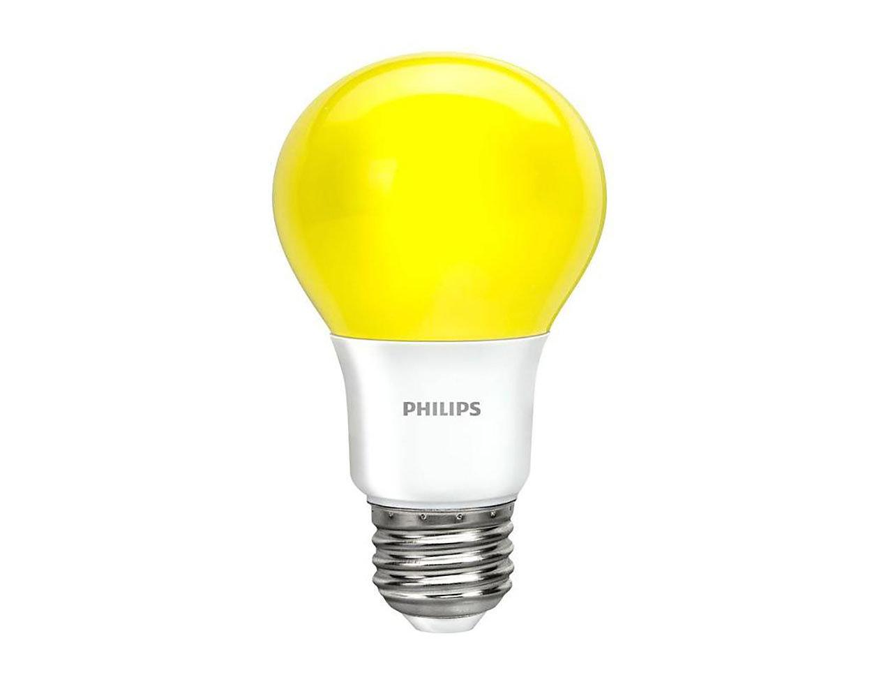 Foco LED de color con luz amarilla brillante