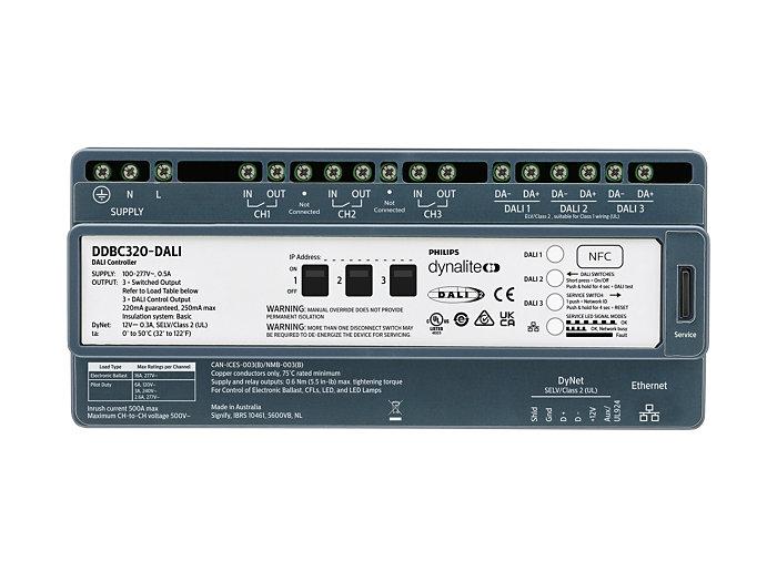 DDBC320-DALI 3 x 20A DALI Driver Controller front