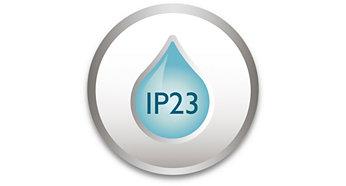 IP23 - résiste aux intempéries