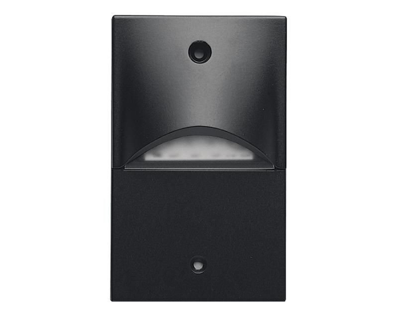 Die Cast Mini LED Step Light, Vertical Mount, 120 VAC,  Satin Lens, Granite Finish