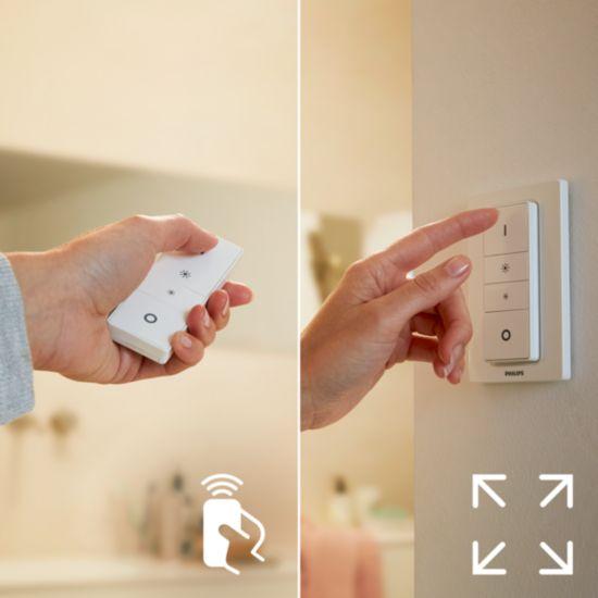 Contrôle facile et sans fil grâce à l'interrupteur avec variateur