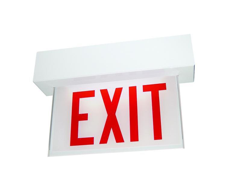Edge-Glo Exit LED, Surface Housing - Nicad, Green LED, SGLO LED Series