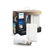 Hue White Ambiance Kit ampoule Hue E27 white ambiance et dim switch